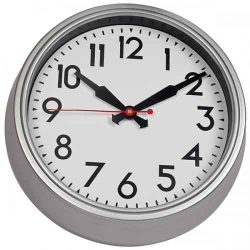 """שעון קיר דמוי מתכת עגול """"מונקו"""" קוטר 38 ס""""מ"""