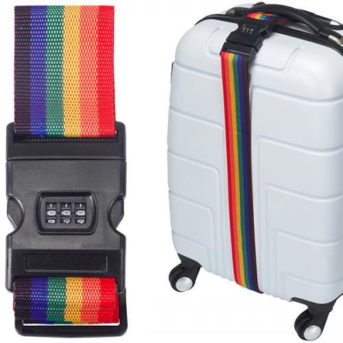 רצועה למזוודה צבעונית עם מנעול קומבינציה