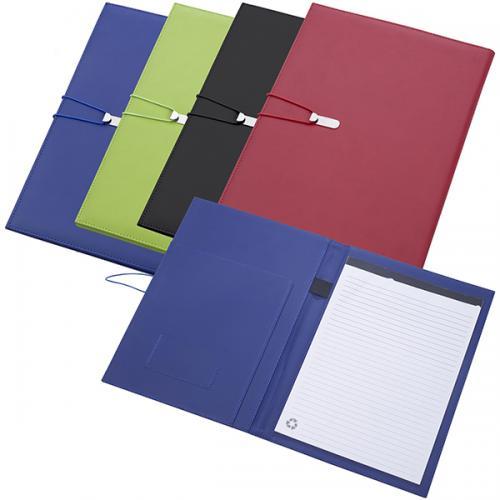 """מכתבייה PU A4 עם תופסן מתכת וגומיה 33X24 ס""""מ +בלוק נייר"""