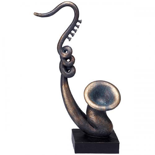 """פסל אומנותי - """" הסקסופון המפותל """""""