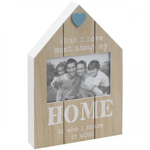 מסגרת לתמונה HOME בית מעץ במידות 10 על 15