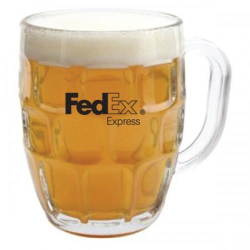 בולט - כוס בירה ריבועים + ידית   570 ml