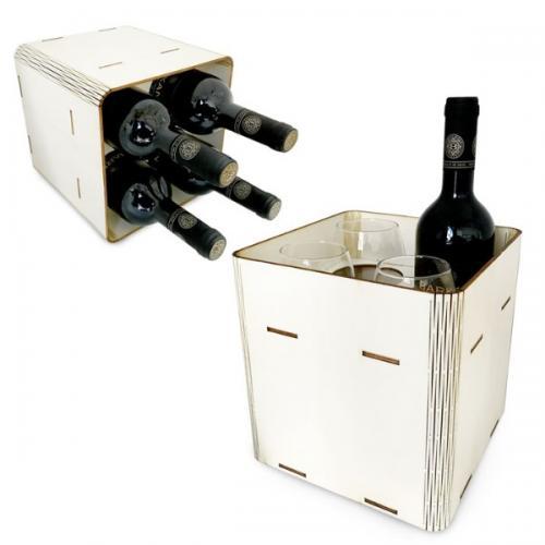 מארז כוסות ויין - מיתוג צבעוני