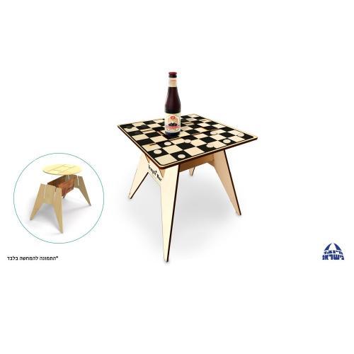 שולחן חוף לוח דמקה