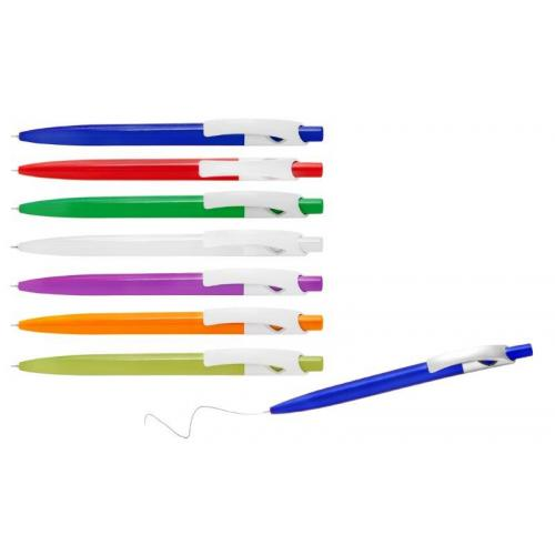 עט פלסטיק בעל גוף צבעוני