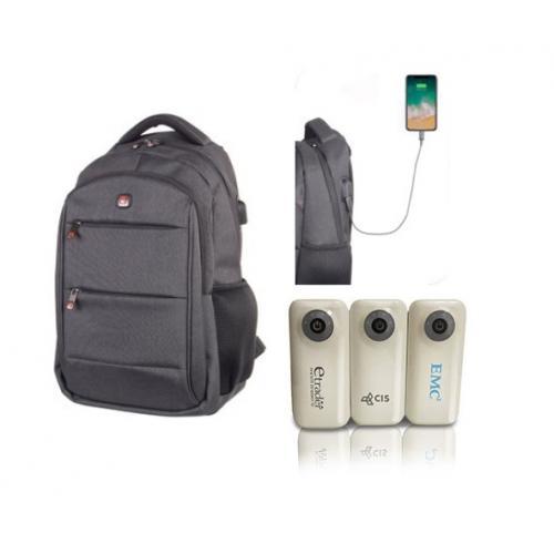 תיק גב SWISS למחשב נייד בשילוב מטען נייד עוצמתי