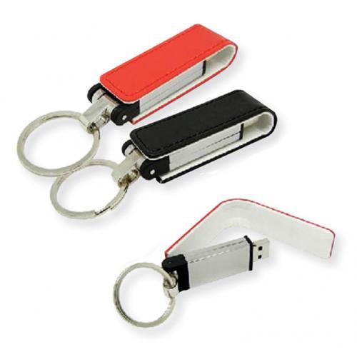 מחזיק מפתחות מלבן USB מעור