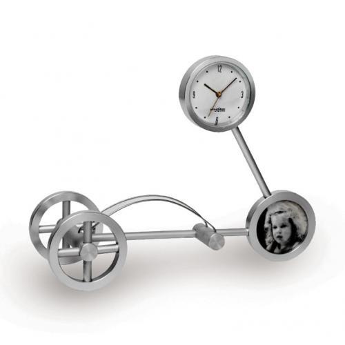 שעון שולחני עם מעמד לכרטיסי ביקור