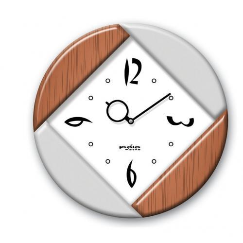 שעון קיר מעוגל