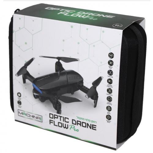 רחפן סלפי מתקפל עם מצלמה ו-OPTIC DRONE FLOW WiFi