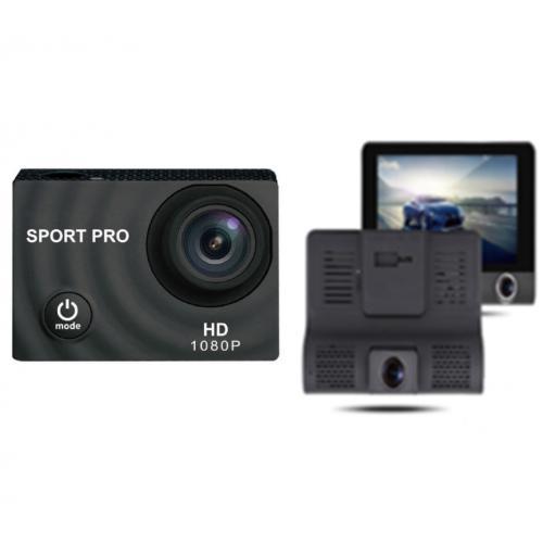 ערכת מצלמות בה מצלמת אקסטרים ומצלמת דרך SPORTPRO