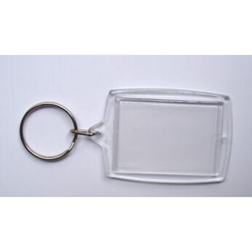 מחזיק מפתחות שקוף לתמונה
