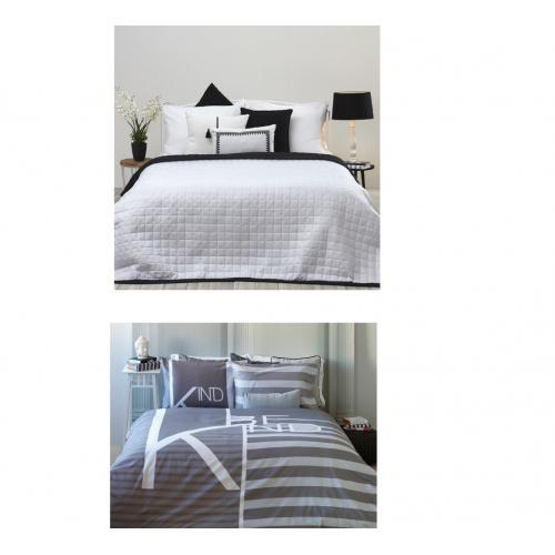 מארז מפנק  HOME STYLE סט מצעים זוגי, 100% כותנה, שמיכת קיץ מזגן 150×200