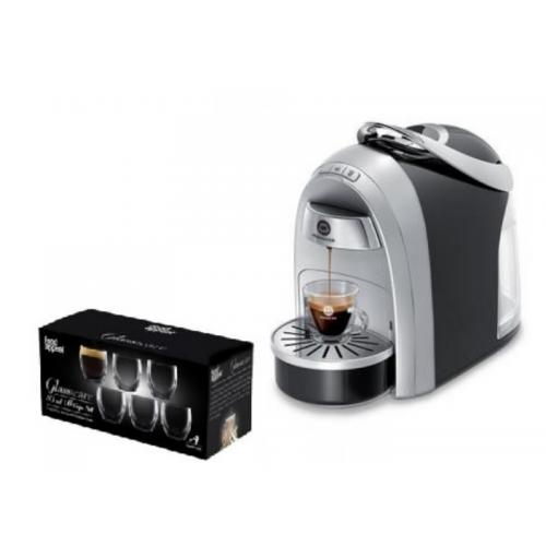 Coffee machine Mushroom Pro from Club Espresso + capsule tastes kit + a set of double-glass glasses