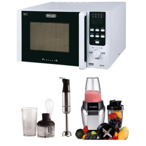 מארז מושלם למטבח: בלנדר מתקדם CRB-60 ומיקרוגל MW-534 מבית DELONGHI
