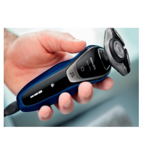 מכונת גילוח מסדרה 5000 הכוללת טרימר לקיצוץ פאות ושפם