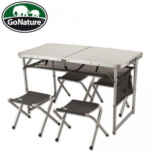 שולחן אלומיניום מתקפל עם כסאות - GoNature