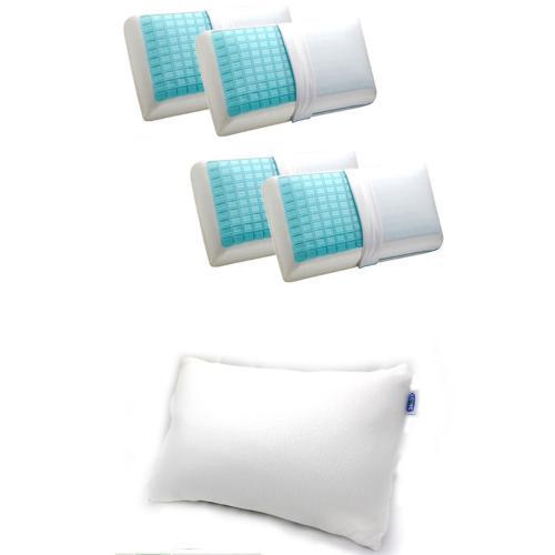 כרית שינה ויסקו אלסטית איכותית וחבילת 4 כריות סופר פרימיום מבית דוקטור גב