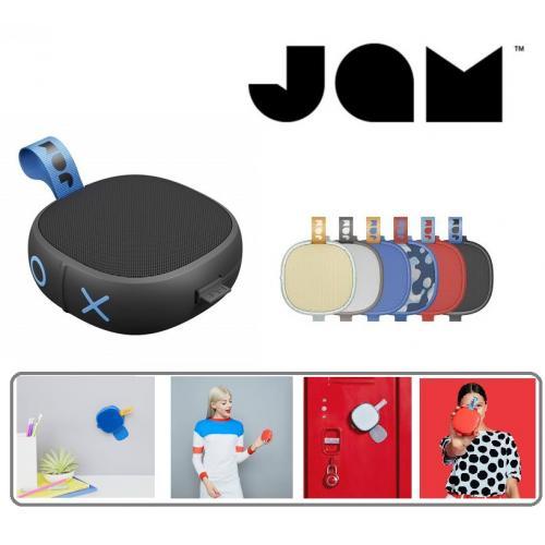 רמקול בלוטוס מדליק חסין מים נצמד לקירות של המותג הבינלאומי JAM