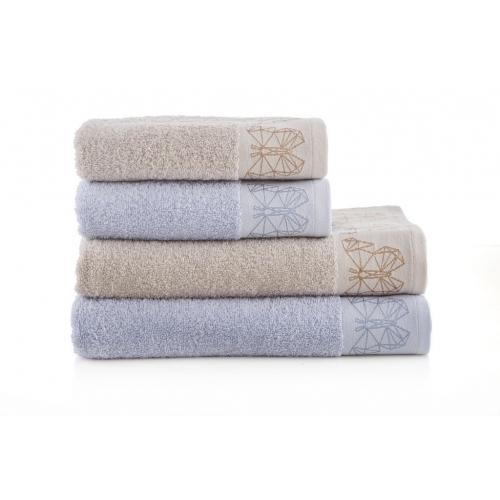 מגבת רחצה ז'קרד 70/130 הרמוני במגוון צבעים מכותנה מבית ורדינון
