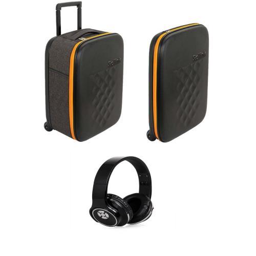 המזוודה הדקה בעולם - זוג מזוודות עם אוזניות אלחוטיות