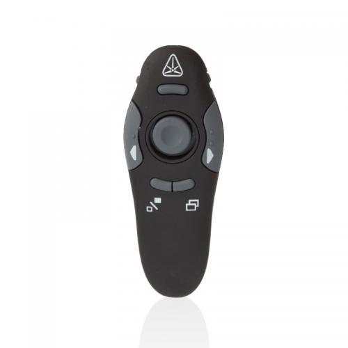 עכבר עם מעביר מצגות ומצביע לייזר מופעל באמצעות חיבור USB