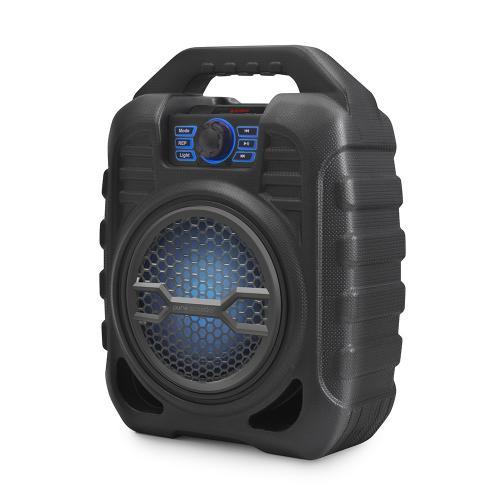 רמקול בידורית קריוקי ניידת 25W בלוטוס עם תאורת דיסקו ומיקרופון