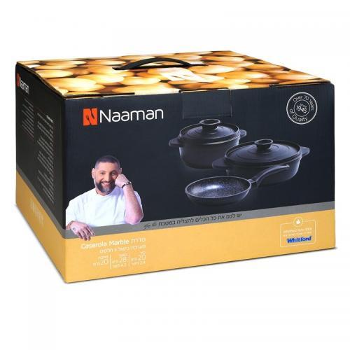 מארז בישול 5 חלקים תואם אינדוקציה  עשיר ואיכותי Naaman
