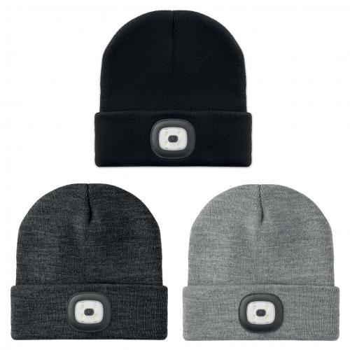 כובע אקרילי חורפי משולב פנס