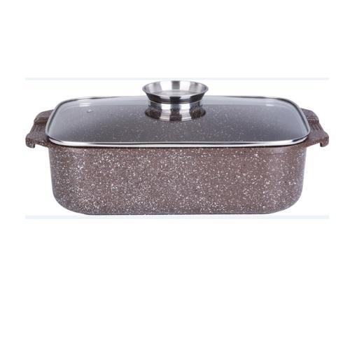 """רוסטר לתנור ולכריים 34 ס""""מ 7.2 ליטר חום MARBLE TOUCH כפתור ארומה IND כולל כפפות"""