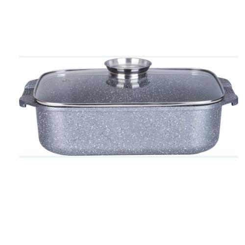 """רוסטר לתנור ולכריים 34 ס""""מ 7.2 ליטר אפור MARBLE TOUCH כפתור ארומה IND כולל כפפות"""