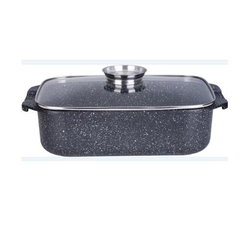 """רוסטר לתנור ולכריים 34 ס""""מ 7.2 ליטר שחור MARBLE TOUCH כפתור ארומה IND כולל כפפות"""