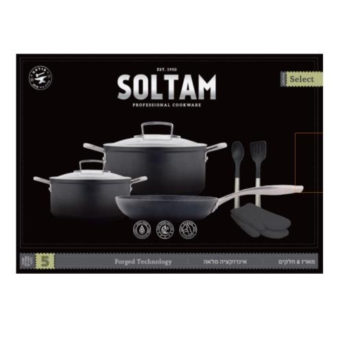 סט סירים 8 חלקים דגם SELECT מבית SOLTAM