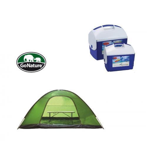 אוהל 8 אנשים go-nature עם סט צידניות איכותיות