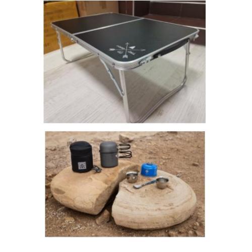"""מארז פק""""ל קפה דגם MICRO, ושולחן מתקפל לים או לפיקניק"""