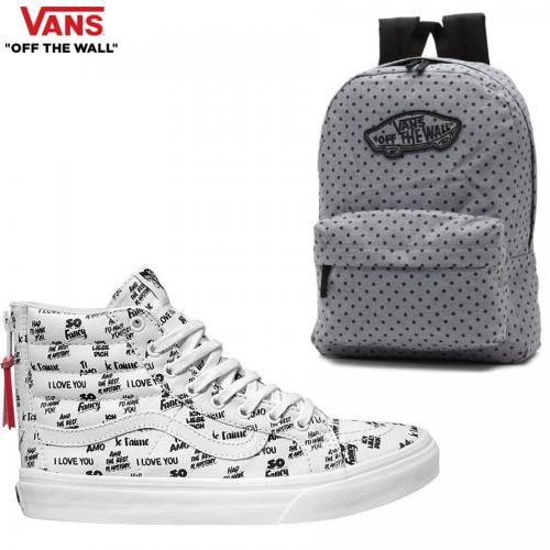 סט אופנתי לבחירה הכולל נעליים ותיק גב של המותג VANS