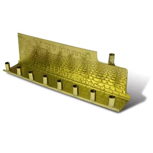 חנוכית פח זהב מוטבע