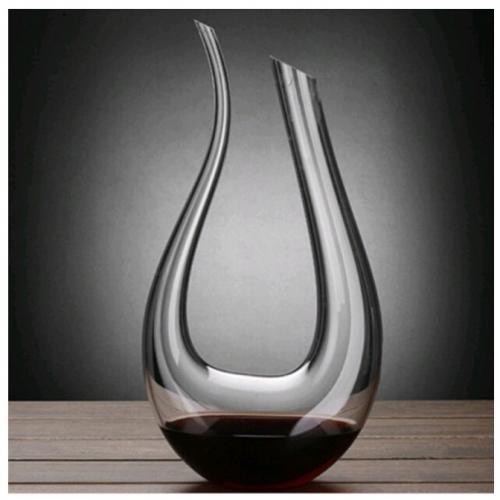 כלי יין יוקרתי מקריסטל בצורת U