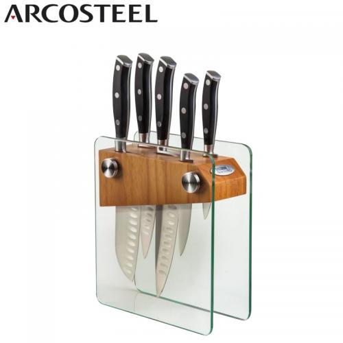 סט סכינים מרהיב מעמד זכוכית של חברת ARCOSTEEL