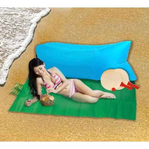 מחצלת אישית, פוף מתנפח ומטקות - סט לחוף הים