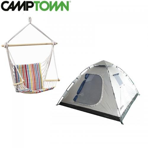 אוהל פתיחה מהירה ל 6 אנשים בשילוב ערסל ישיבה איכותי