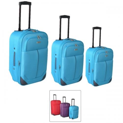 סט מזוודות צבעוניות מבד