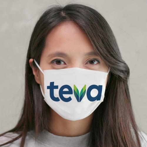 מסכת מגן רב פעמית ממותגת מבד להגנה בפני וירוס הקורונה - מיוצר בישראל!