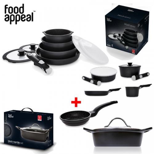 חבילת 12 חלקים איכותית המשלבת בישול ואחסון קומפקטי מבית Food Appeal