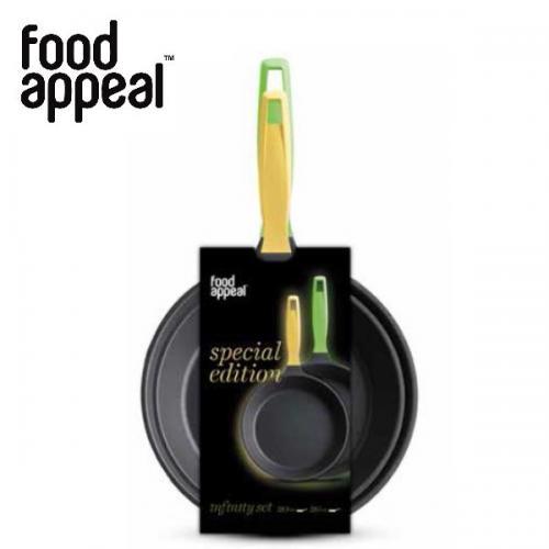 זוג מחבתות מעוצבות מסדרת INFINITY טריפל טיטניום במידות 20+26 - Food Appeal