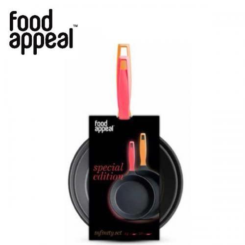 זוג מחבתות מעוצבות מסדרת INFINITY טריפל טיטניום במידות 24+28 - Food Appeal