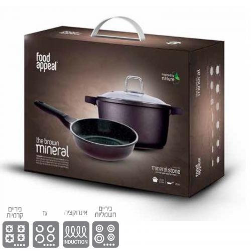 סט סיר 24 + מחבת 24 במארז מתנה - Food Appeal
