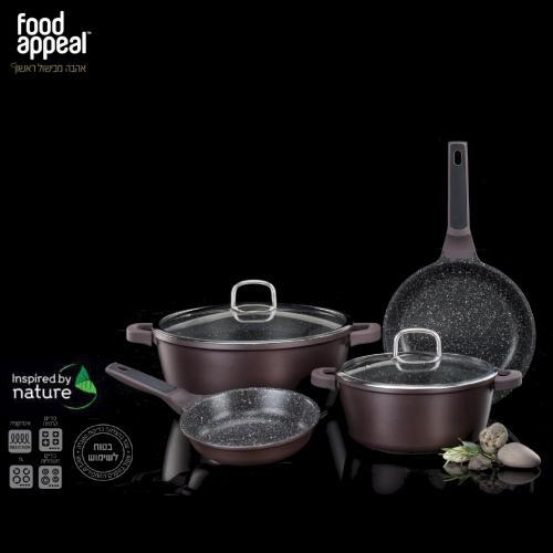 ערכת פרמיום 6 חלקים לבישול טבעי באבן שיש Food Appeal