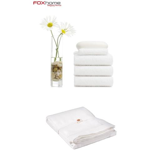 סט 20 מגבות ומפת שולחן לבנה חגיגית מהודרת מבית פוקס הום