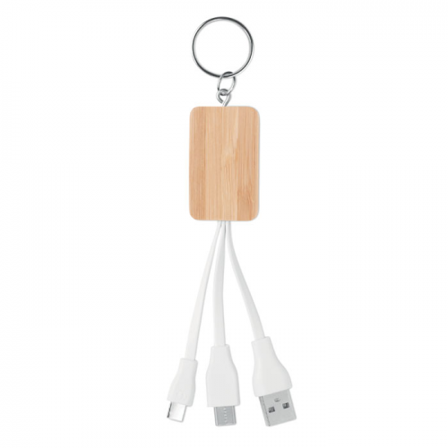 כבל הטענה לסמסונג ואייפון עשוי במבוק